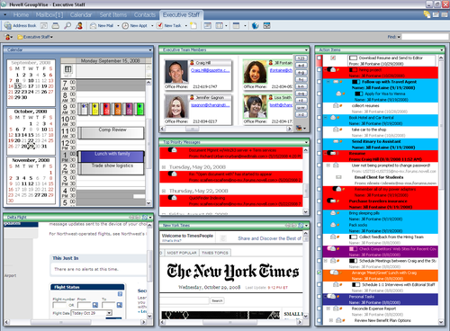 GroupWise 8 Home view