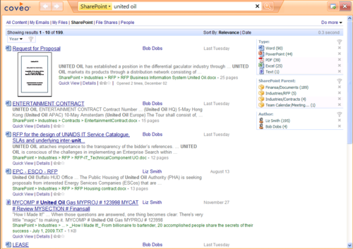 Coveo Expresso Intranet Search