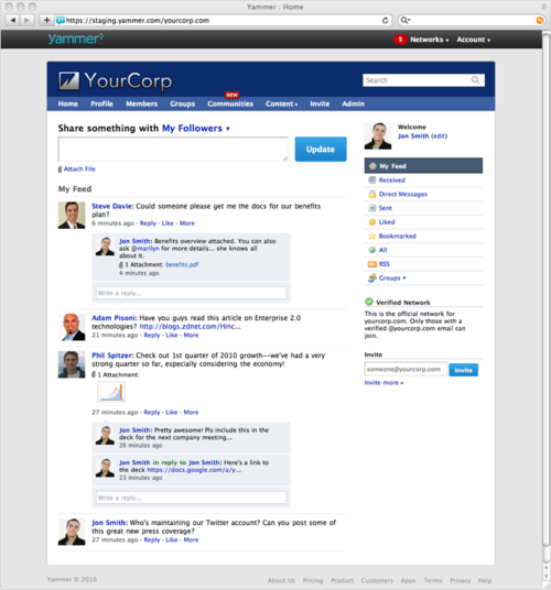 Yammer Feed