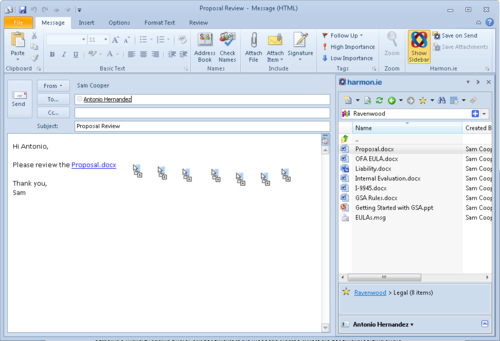 Send_sharepoint_document_links
