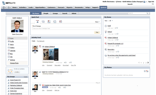 Qontext Portal in Netsuite half screen