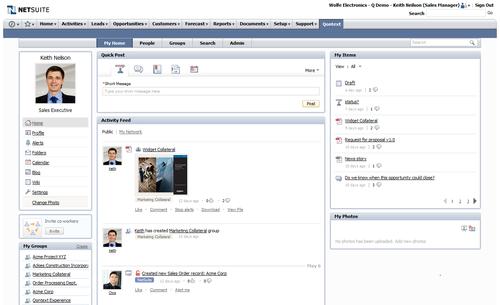 Qontext Portal in Netsuite half screen