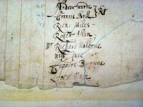 Freemen Of New Haven close up- Name Of Will Ives