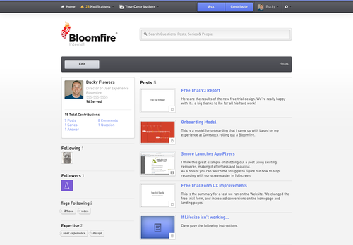 Screenshot_Bloomfire Profile Homepage