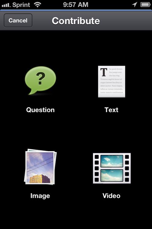 Screenshot_Bloomfire iOS Contribute