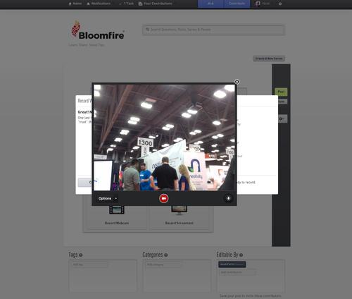 Screenshot_Bloomfire Video Interface